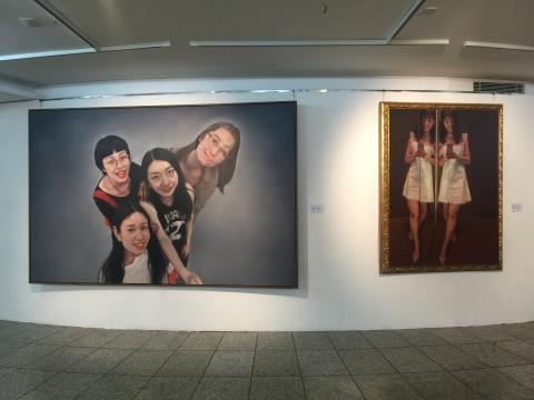 四川美术学院院长庞茂琨带来的是他2015年转型之前的作品