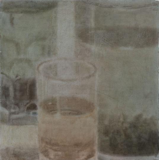 《三杯茶》 40×40cm木板坦培拉2017