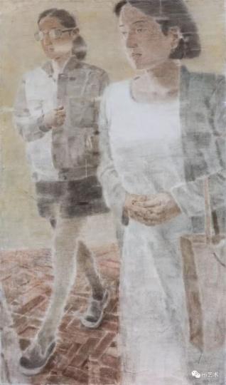 《两个人Ⅲ》200×120cm 木板坦培拉2017