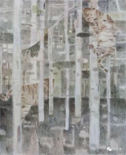《两只老虎》 240×200cm布面坦培拉2017