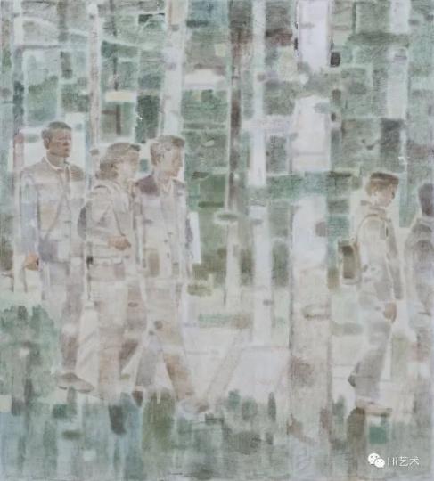 《林间》 220×200cm布面坦培拉2017