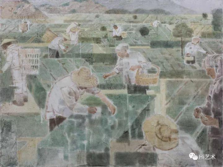 《采茶》 180×240cm木板坦培拉2017