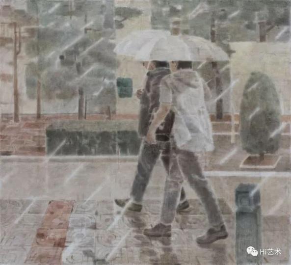 《西湖》200×220cm布面坦培拉2017
