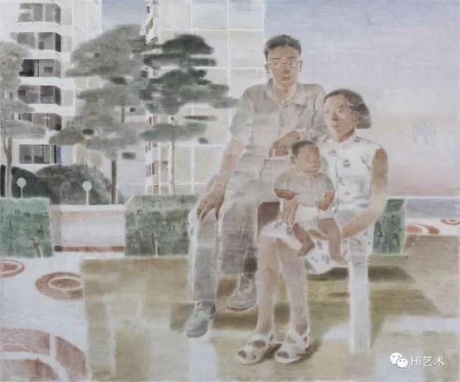 《一个家庭》 200×240cm木板坦培拉2017