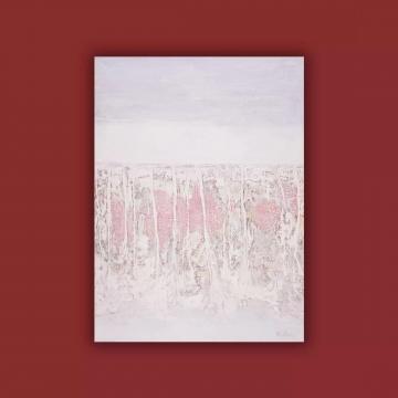 《白色风景-倒影》150×110cm 布面油彩.丙烯 2013