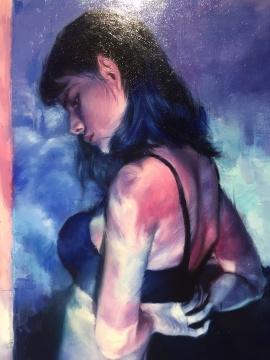《夜》 130×90cm 布面油画 2017