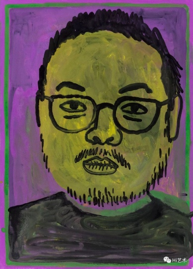烟囱 《黄脸自画像》 18×13cm 纸上水粉 2016