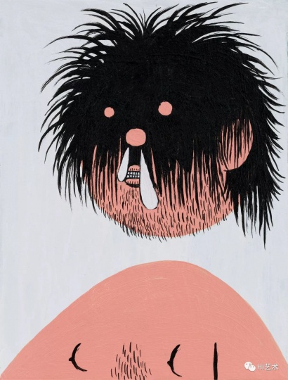 《暴走发型之四》 20×15cm 纸上丙烯 2017