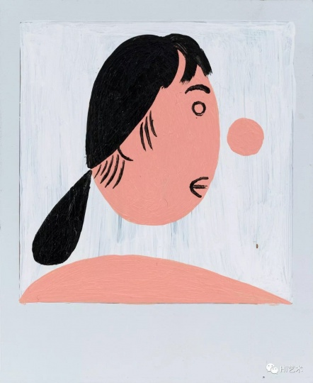 《老婆的发型》 11×9cm 宝丽来上丙烯 2017