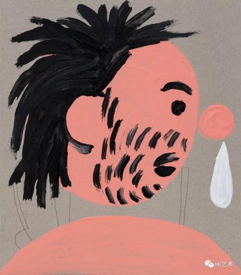 《流鼻涕的我之二》 21×18.5cm 纸上丙烯 2017