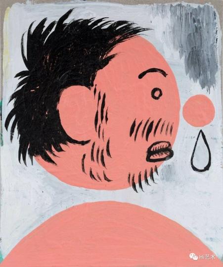 《流鼻涕的我之三》 14.5×12cm 纸上丙烯 2017
