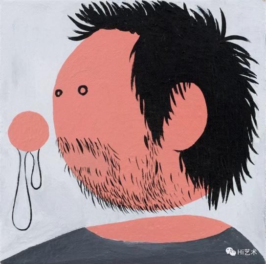 《流鼻涕的我之四》 25×25cm 布面丙烯 2017
