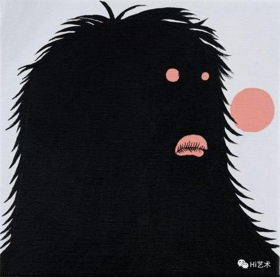 《长毛画家之二》 24.5×24.5cm 布面丙烯 2017