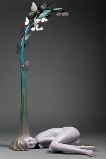 侯雯 《化梦为蝶》 235×148×80cm 综合材料 2014