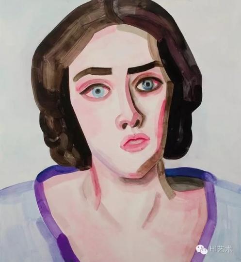 《Adele Hugo》 65×60cm 木板油画 2016