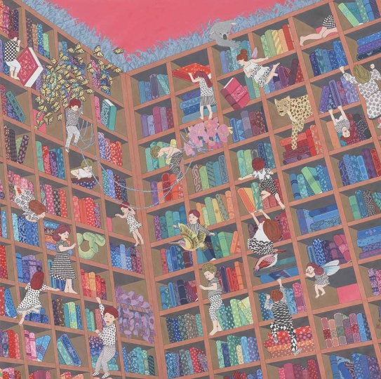 刘天怜 书的海洋 2016 纸本设色 120×120cm