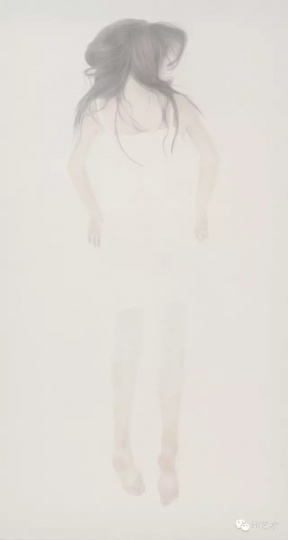 《若轻2》 240 x 130cm 绢本 水色 2016