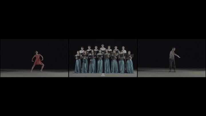 《蜕(人身检查)》 9分 三屏高清彩色有声录像 2017(图片由艺术家和魔金石空间提供)