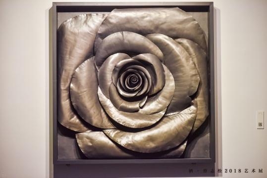 《方玫瑰》 200×200×20cm 铅皮 2010