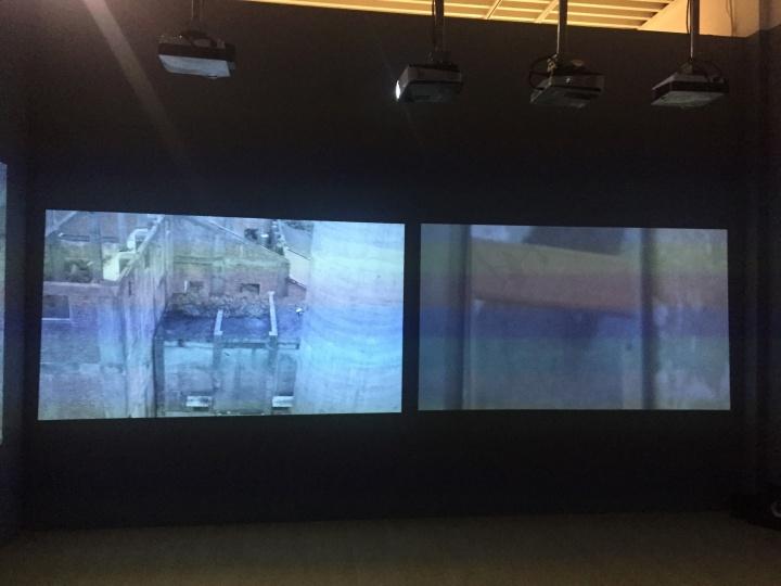 许家维 《飞行器、霜毛蝠、逝者证言》 四频道录像装置 3分40秒-8分40秒 2017