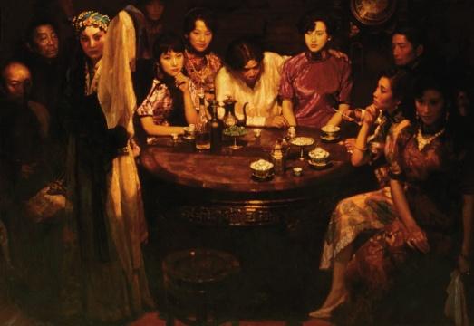 LOT2068陈逸飞《玉堂春暖》169.5×243.5cm 布面油画 1993  估价:2500-3500万元  当代艺术夜场