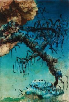 LOT2085周春芽《中国风景》194×130cm 布面油画 1993  估价:1000-1500万元  当代艺术夜场