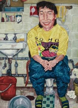 LOT2081刘炜《自画像》177×129.5cm 布面油画 1992  估价: 1500-2000万元  当代艺术夜场