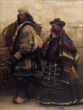 LOT2064陈丹青《进城》86×65.5cm 布面油画 1985  估价: 680-880万元  当代艺术夜场