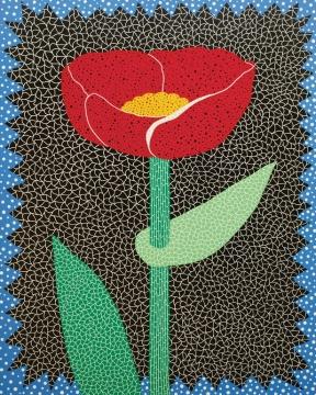 Lot 2080 草间弥生《花》 228×182cm 布面油画 2008  估价:200-300万  当代艺术夜场