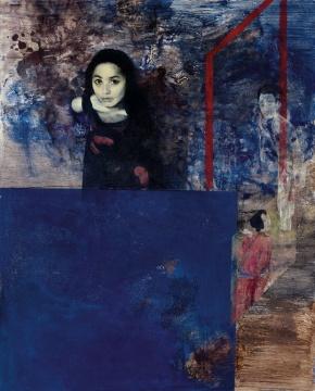 LOT2065 何多苓《窥听者》160×130cm 布面油画 1996  估价:160-260万元  当代艺术夜场