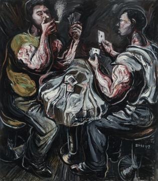 LOT2083 张恩利《扑克牌》168×148cm 布面油画 1997  估价:220-320万元  当代艺术夜场
