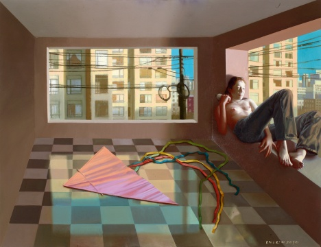 LOT1861刘溢《等待飞翔》77×99.5cm布面油画 2010  估价:60-80万元  二十世纪及当代艺术专场