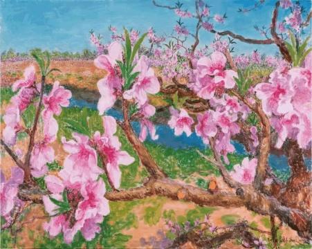 周春芽 《桃花》布面油画 200x250cm2017