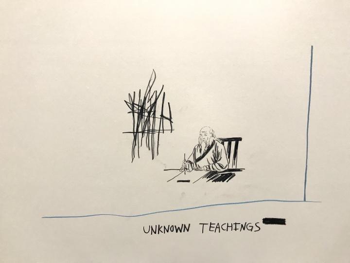 韦斯·朗《祈祷者—画纸研究版本》布面油画及丙烯 2016  歌曲《潜意识》