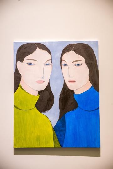 凯利·玛丽·比曼《面纸用光了》 布面油画 2017 陈冠希收藏  歌曲《别再哭》