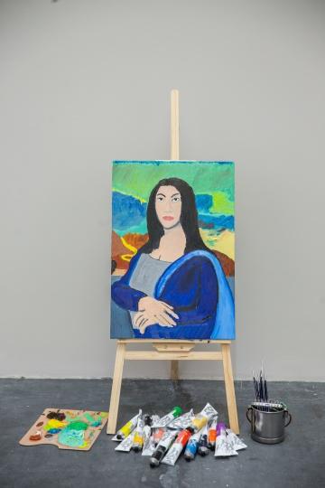 陈冠希以妻子秦舒培形象创作的《雅存》布面油画 2017  歌曲《真爱的成分》