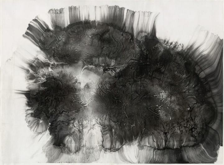 冰逸《三张脸的向日葵》255 x 348 cm纸本水墨2010
