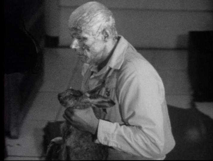 约瑟夫·博伊斯《如何向死兔子讲解绘画》行为录像 6分22秒 1965