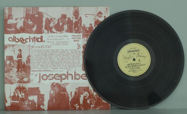 约瑟夫·博伊斯《一场在伦敦当代艺术学会的音乐会》唱片封套1975