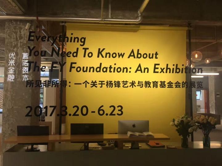 """有空间""""所见非所得——一个关于杨锋艺术与教育基金会的展览""""展览现场"""