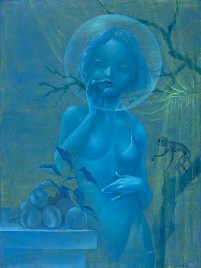 《Vanity系列-深蓝的花园》 60×80cm 布面丙烯 2018