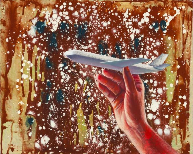 《飞机》 40×50cm 布面丙烯 2017