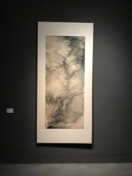 吴强《云壑》175×74 cm 绢本设色