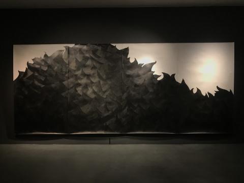 金恩朱《海 》230x560cm 纸本