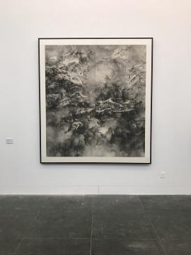泰祥洲《搅动苍冥》 42x69cm 纸本水墨 2016