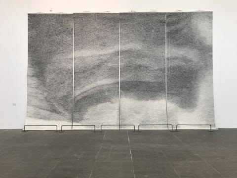 张诠《海市蜃楼》 500×190cm 纸本水墨 2014