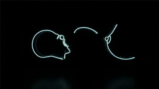 《啊~》 霓虹灯,有机玻璃,2012