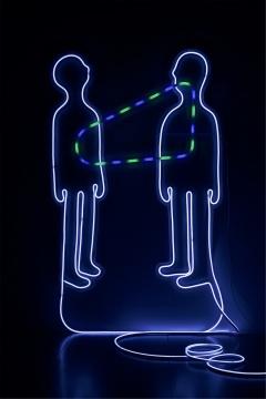 《无名》 软管霓虹灯,有机玻璃