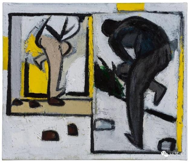 《无题-有纵深的镜子》39.5×46.5cm布面油画2016-2017