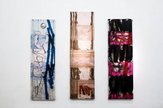 《力度系列》 布面丙烯、水墨、综合材料 2014